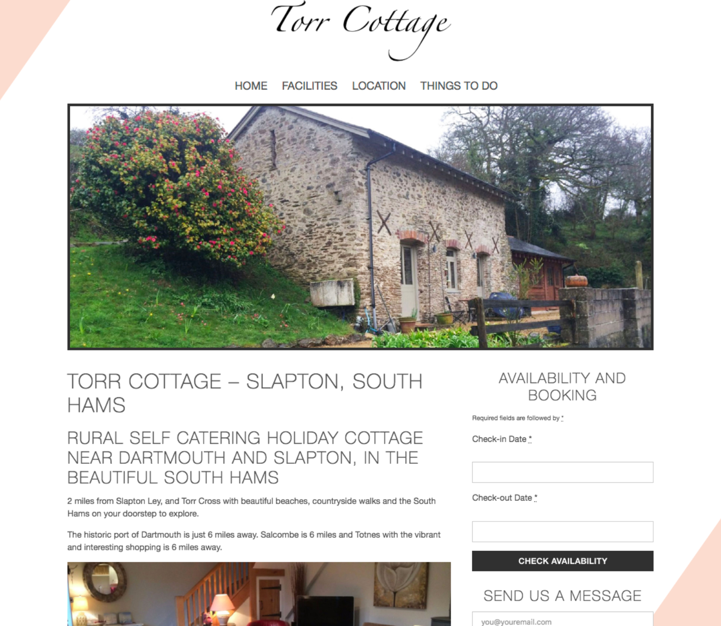Holiday Cottage Website Design for Torr Farm Cottages