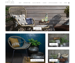 Shopify Store Development for South Devon based Relish Lifestyle by Shopify Expert AMPlifyME Web Design
